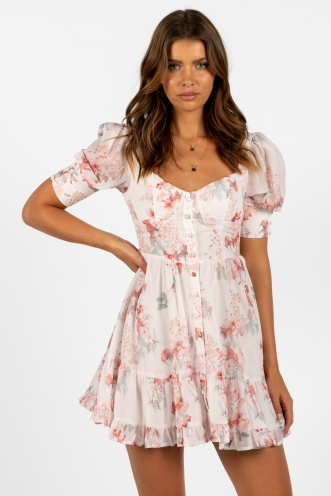 Odessa Dress White Floral