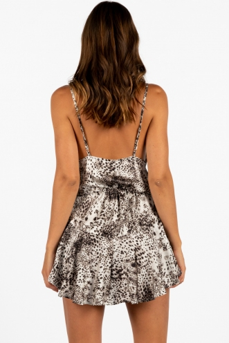 Catching Dreams Dress Leopard Print