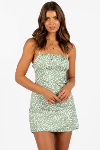 Therapy Dress Green Floral
