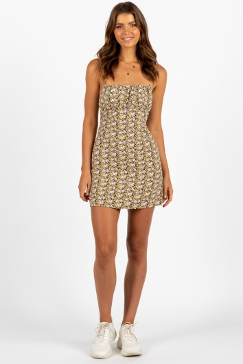 Therapy Dress Yellow Multi Floral