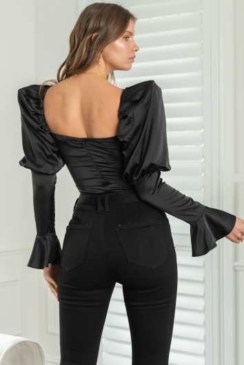 In Your Eyes Bodysuit Black