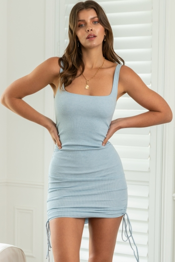 Barely There Dress Blue