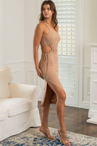 Tessa Dress Beige