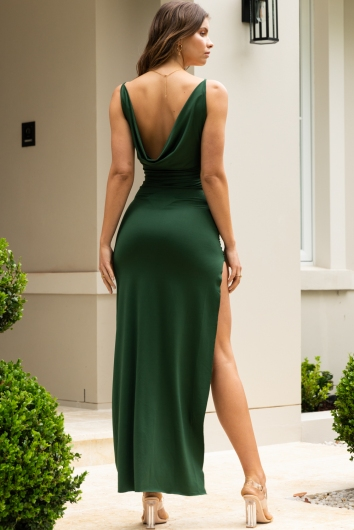 Madelyn Dress Forest Green