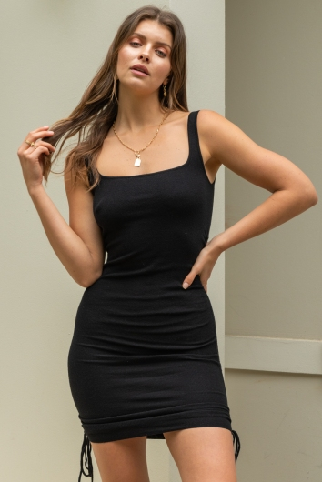 Barely There Dress Black