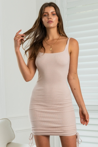 Barely There Dress Beige