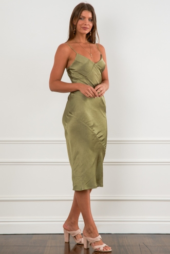 Tasman Dress Khaki