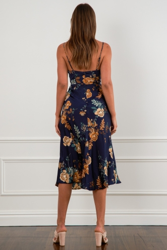 Becka Dress Navy Floral