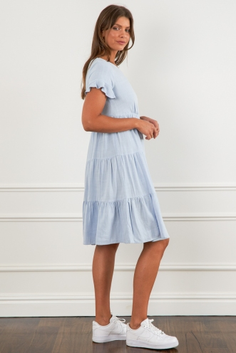 Steph Dress Blue