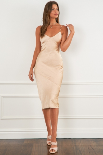 Tasman Dress Champagne