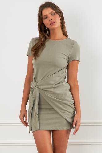 Chimes Dress Khaki
