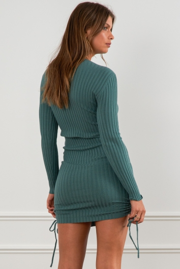 Out Of Sight Dress Green