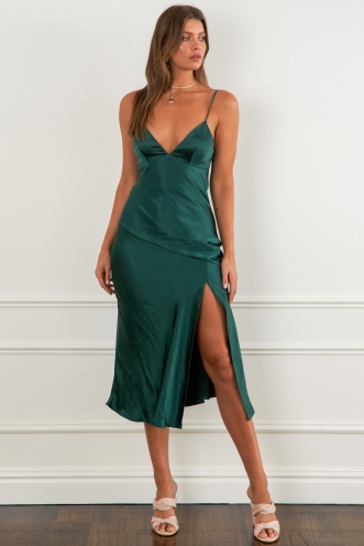 Take A Piece Dress Green