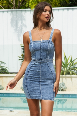 Vintage Feels Dress Acid Wash Denim