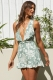Palm Lined Streets Playsuit Sage Print