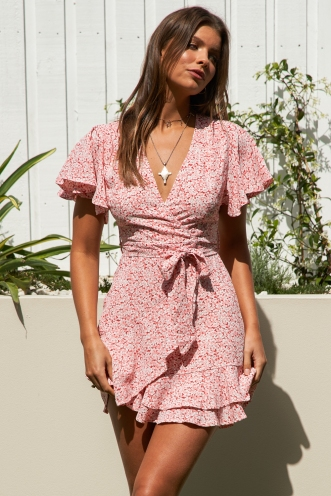 Spencer Dress Pink Floral