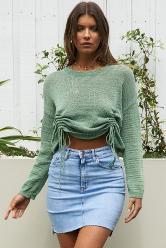 Spice Girl Top Green