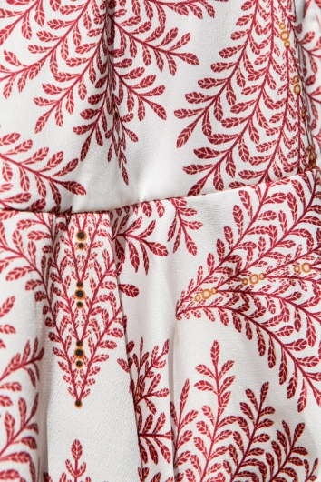 Caitlin Playsuit White/Red Print