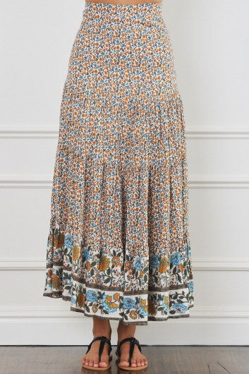 Tara Skirt - Mix Blue/Orange
