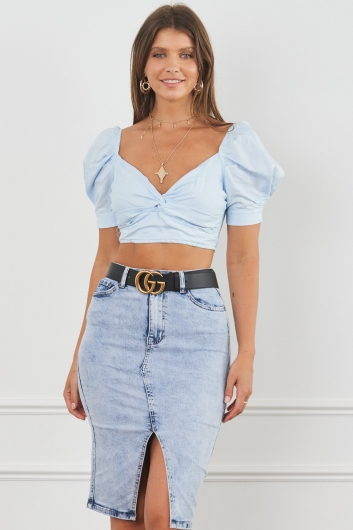 Square One Top Blue
