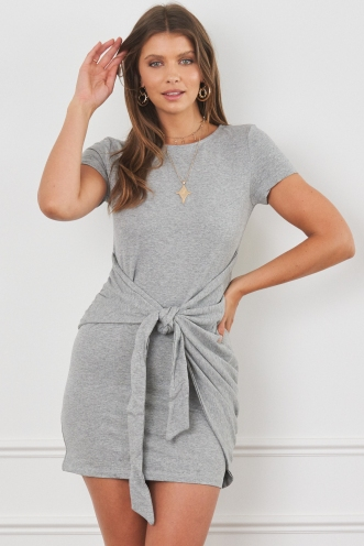 Chimes Dress Grey