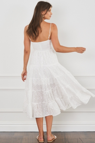Mayer Dress White