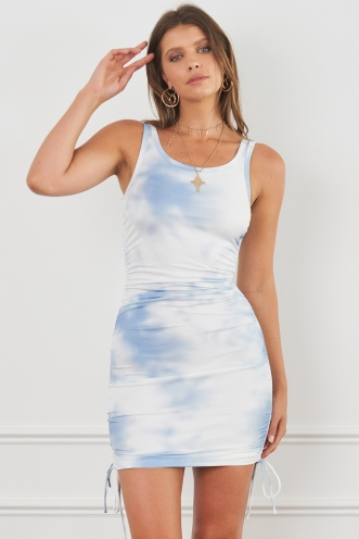 Lumen Dress Blue Dye