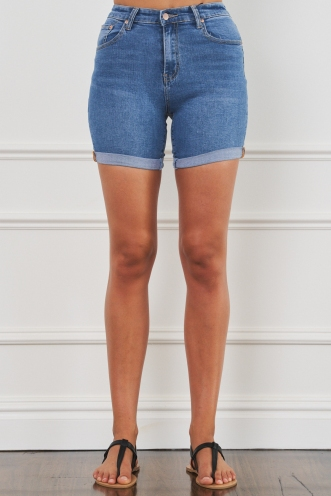Kickin' It Shorts Blue Denim