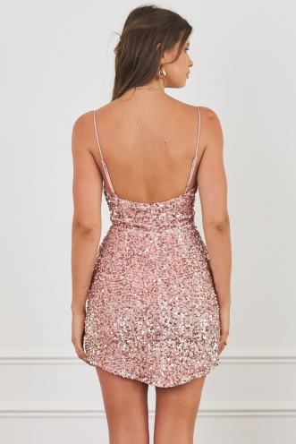 Precious Dress Blush Sequin
