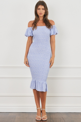 Daydreaming Dress Blue Print