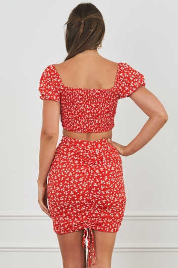 Kayte Top Red Floral