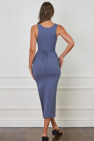 Charly Dress Steel Blue