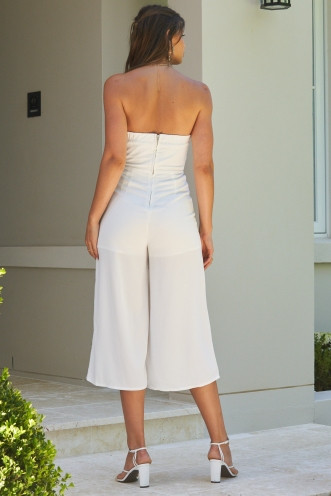 Grounded Jumpsuit White