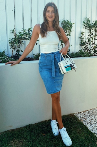 Scoot Skirt Blue Denim