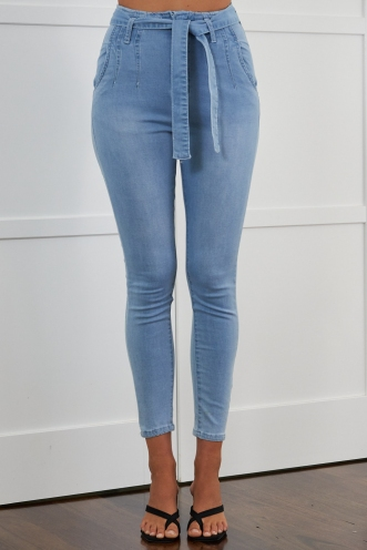 Oreo Cheesecake Jeans Light Denim