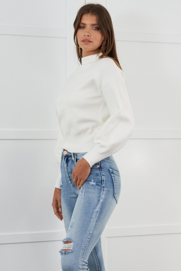 Best For You Jumper White