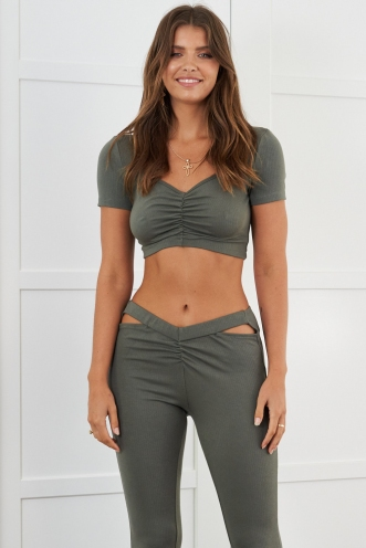 Billie Top Khaki