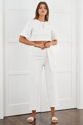 Tully Pants White