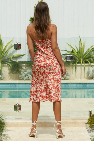 Harley Dress Red Floral Print