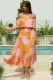 Clear To You Dress Pink/Orange