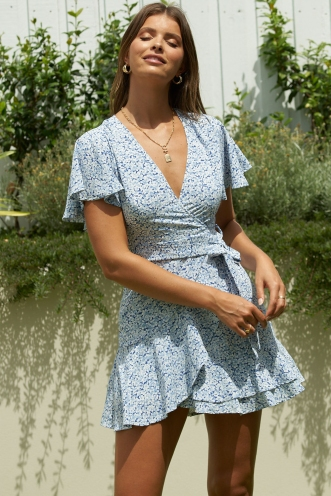 Spencer Dress Blue Floral