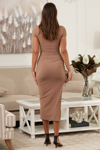Dusk Till Dawn Dress Beige