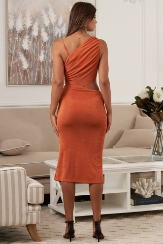 Kiera Dress Burnt Orange