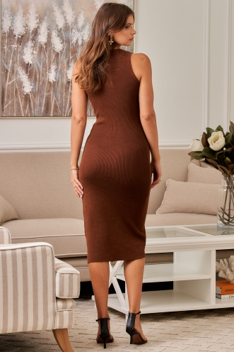 Peyton Dress Brown