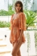 Day To Day Playsuit Orange Print