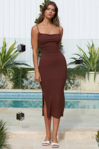 Taylor Dress Brown