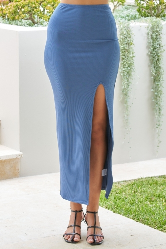 Untamed Skirt Steel Blue