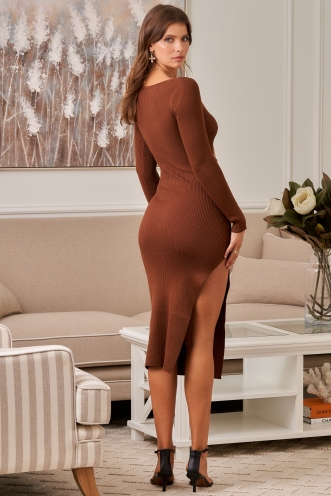 Patty Dress Brown