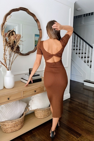 Cartia Dress Brown