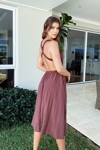 Cayley Dress Brown